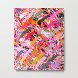 WILD SIDE ANIMAL ABSTRACT SURFACE PATTERN  Metal Print