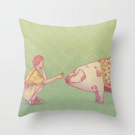 Signe du cochon Throw Pillow