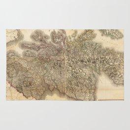 Vintage Map of Scotland (1801) Rug