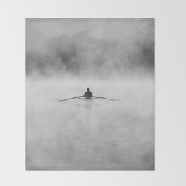 Rowing On The Chattahoochee Throw Blanket