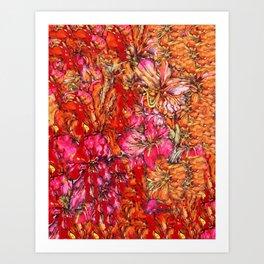 Lila pattern Art Print