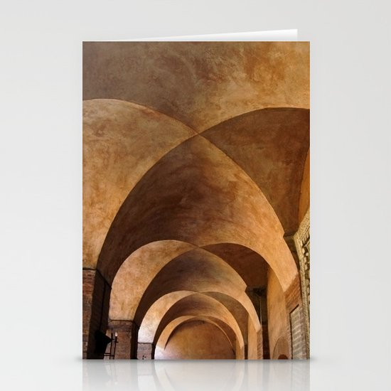 Symmetrical ceiling in Rome. Stationery Cards