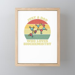 Biochemist Biochemistry Daddy Father Gift Idea Framed Mini Art Print