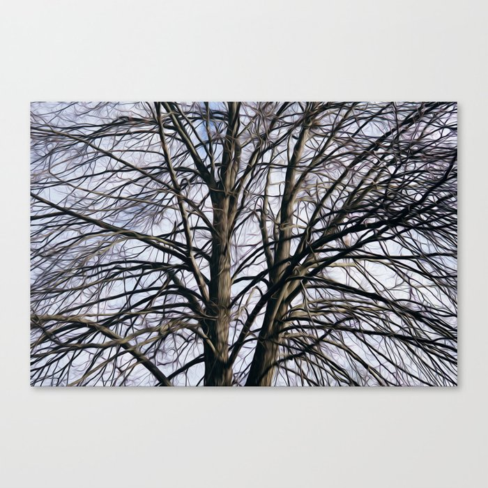 Stained Glass Tree Canvas Print