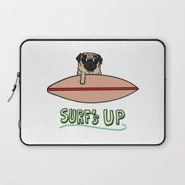 Surf's Up Pug Laptop Sleeve