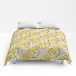Golden swirls Comforters