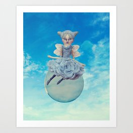 Fairy floating on a Bubble Art Print
