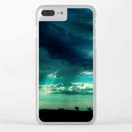 Morning Storm-Iowa Clear iPhone Case