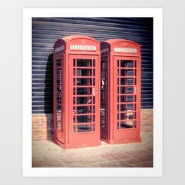 Red Boxes Art Print