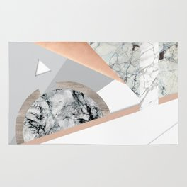 Collage I ( marble and copper ) Rug