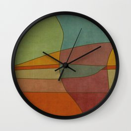 """Colorful Abstract Landscape"" Wall Clock"