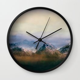 Mountain Peaks II Wall Clock