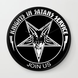 Knights In Satan's Service - Join Us Wall Clock
