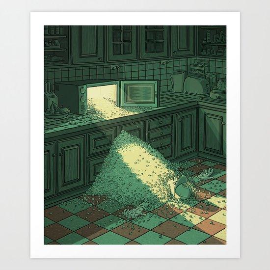 Micro Wave Art Print