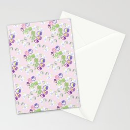 Pansies Neck Gator Purple Pansy Stationery Cards
