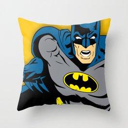 Bat man comic Throw Pillow
