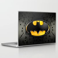 bat man Laptop & iPad Skins featuring BAT MAN by BeautyArtGalery