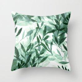 Changes Hunter Green Throw Pillow