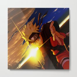 naruto spirit of fire Metal Print