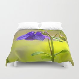 Purple Columbine In Spring Mood Duvet Cover