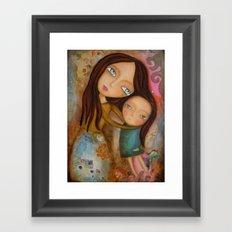 Embrace of a Mother Framed Art Print