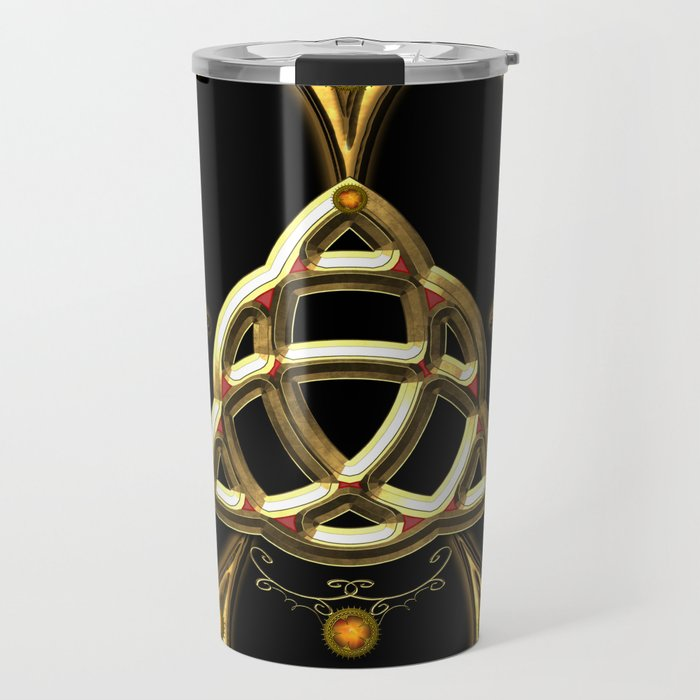 Decorative celtic knot Travel Mug