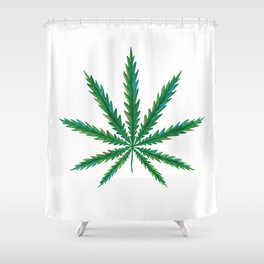 Marijuana. Cannabis leaf  Shower Curtain