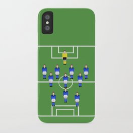 Football Soccer sports team in blue iPhone Case