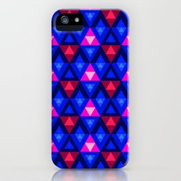 Triangles and Colours iPhone Case