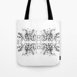 Floral Abstract Illustration Tote Bag