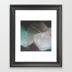 Marble Teal Layers Framed Art Print