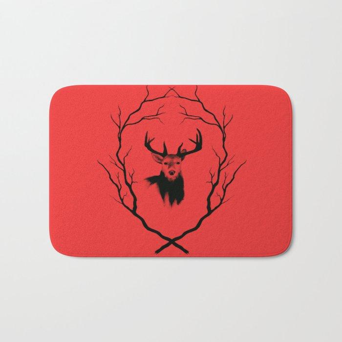 Red deer  Bath Mat