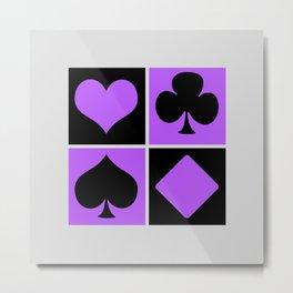 Cards series - Black and purple Metal Print
