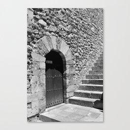 A door in Taormina, Sicily Canvas Print