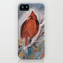 Winter Cardinal iPhone Case