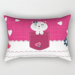 Little cat Rectangular Pillow