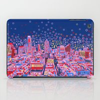 austin iPad Cases featuring austin texas city skyline by Bekim ART