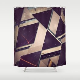 Aztec Abstract Triangle Pattern Shower Curtain