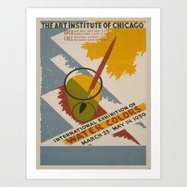 Vintage poster - International Exhibition of Water Colors Kunstdrucke
