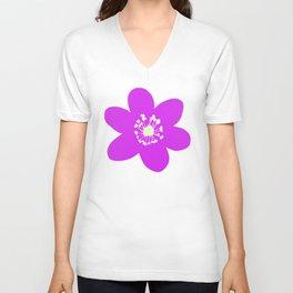 Flower Anemone Hepatica Red Unisex V-Neck