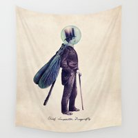 jackalope Wall Tapestries featuring Inspector Dragonfly by Eric Fan