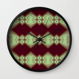 Light Green on Red Wall Clock