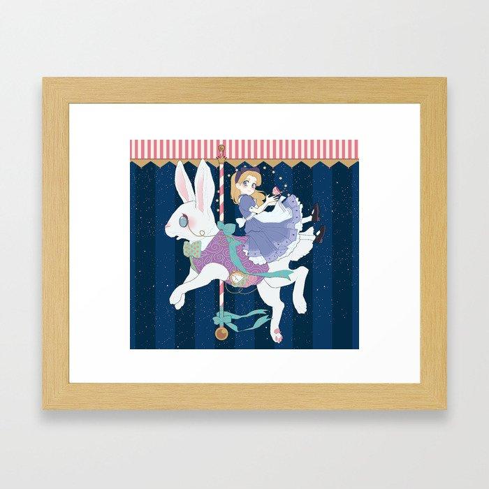 Carousel: World of My Own Framed Art Print