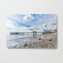 Penarth Pier Morning Light 2 Metal Print