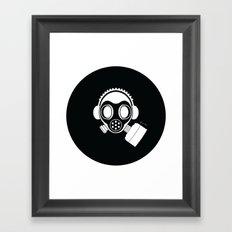 Post World Zuno : Gas Mask 04 Framed Art Print