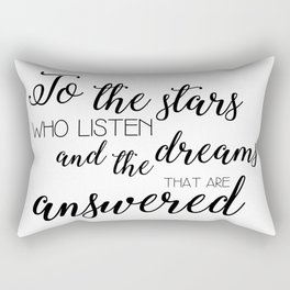to the stars who listen (acomaf) Rectangular Pillow