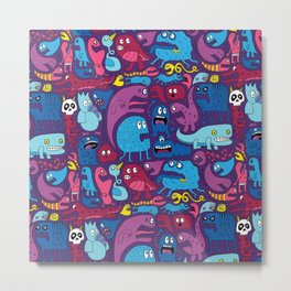 Mo Monsters Mo Patterns Metal Print