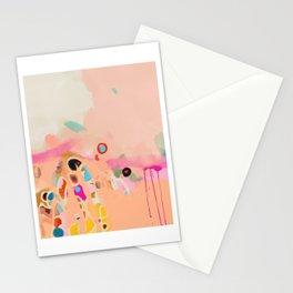 coral summer Stationery Cards