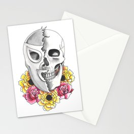 El Santo with Memorial Flowers Stationery Cards