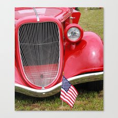 Red American Truck Canvas Print